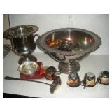 Silver Plate Punch Bowl, Urn