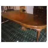 Drexel Walnut Burl Table, 105/84/64x44x29