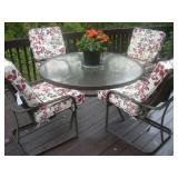 60 in. Patio Table and Chairs, w/Cushions