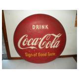 Coke Button Sign 48 Inch