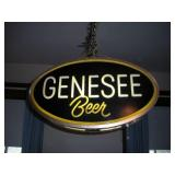 Two-Sided Lighted Genesee Beer Sign, 22x4x12