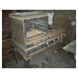 Antique Red Star Gas Stove, Damaged 31x16x16