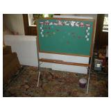 Vintage Magnetic Childs Chalk Board,
