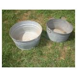 2 Galvanized Tubs, 22 and 24 inch Diameter