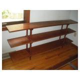 Wood Bookshelf  72x11x30 Inches