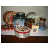 """Holiday Boxes & Tins, largest 10"""""""