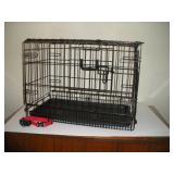 Collapsible Dog Crate & Pet safe Collar,