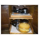 Contents Of 2 Shelves - Pots & Pans