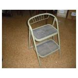 Metal Folding Step Stool  30 Inches Tall