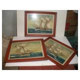 3 Nautical Prints  21x17 Inches