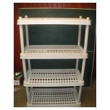 Plastic Shelving Unit  36x18x56 Inches