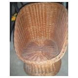 Wicker Chair 28 Inches Tall