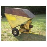 Dumping Grass Vacuum Cart  33x57x40 Inches