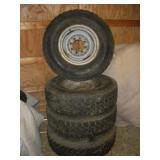 Set Of 4 - 235/85 R16  3/4 Ton Truck Rims & Tires