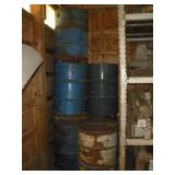 (5) 55 Gallon Drums - Metal