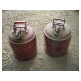 (2) Metal Gas Safety Cans