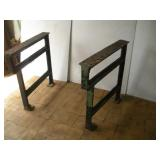 "Heavy Cast Iron Work Bench Legs  31""x31"""