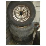 "(4)  3/4 Ton Rims & Tires  6.5"" Bolt Pattern"