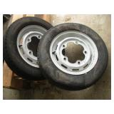 "(2) Volkswagon Rims & Tires  7 3/4"" Bolt Pattern"