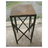 "Metal Table  16""x16""x35"""