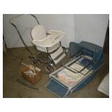 Vintage Stroller, Bassinet & Rocker