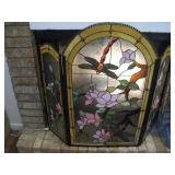Stained Glass Fireplace Screen  42x34 Inches