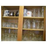 Contents Of Cupboard - Glassware