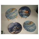 4 Bradford Exchange Collector Plates  8 Inch