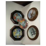 5 Bradford Exchange Collector Plates  8 Inch