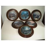 6 Bradford Exchange Collector Plates  8 Inch