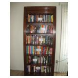 Ethan Allen Brown Cherry Lighted Bookshelf