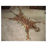 Indian Cottage Wool Tiger Skin Rug  60x36 Inches