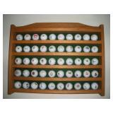 50 Advertising Golf Balls W/ Display Shelf
