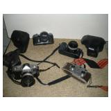 35MM Camera Singlex, Minolta, Revere Stereo Camera
