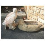 Concrete Boot Scraper & Ceramic Eagle