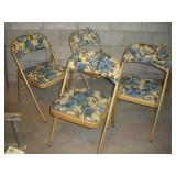 4 Cushioned Folding Chairs