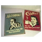 (2) Metal Signs   12x16 Inches