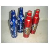 (4) Budweiser Advertising Aluminium Bottles