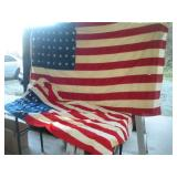 (2) American Cloth Flags - 48 Stars