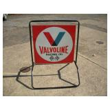 VALVOLINE Double Sided Metal Curb Sign
