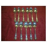 11 Sterling Silver Flatware Spoons