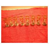 8 Sterling Silver Shot Glassses, 2 1/2 inches Tall