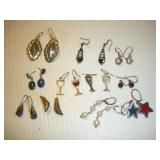 (11) Sterling Silver Pairs Of Earrings
