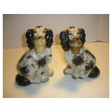 Pair Of Staffordshire Dog Figurines  8 Inches