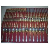 67 Piece Rogers/Onieda Silver Plate Flatware Set