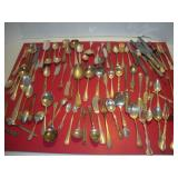 Assorted Silver Plate Flatware 88 Piece