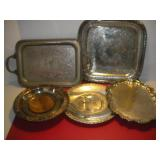 Silver Plate Serving Trays Largest 16x16