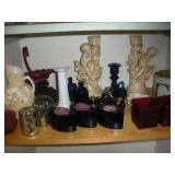 Candle Holders Assorted Lot (Contents of Shelf)