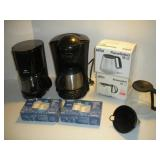 Coffee Makers, Carafes and Filters