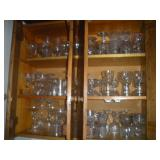 Misc. Glassware, Contents of Cabinet